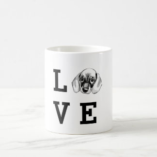 Dachshund LOVE puppy Coffee Mug