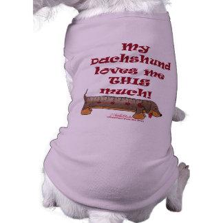 Dachshund Love Sleeveless Dog Shirt