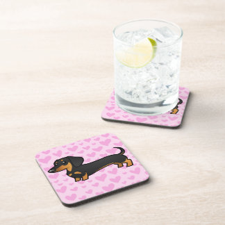 Dachshund Love (smooth coat) Coaster