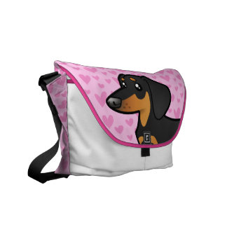 Dachshund Love (smooth coat) Commuter Bags