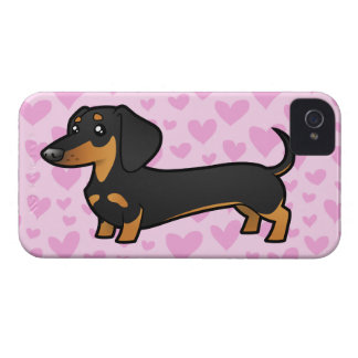 Dachshund Love (smooth coat) iPhone 4 Cover
