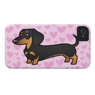 Dachshund Love (smooth coat) iPhone 4 Covers