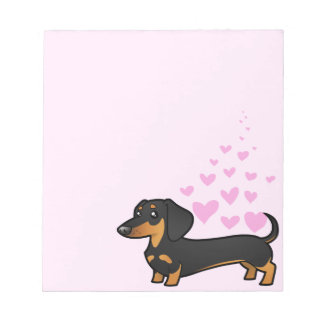 Dachshund Love (smooth coat) Notepad