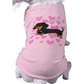 Dachshund Love (smooth coat) Sleeveless Dog Shirt