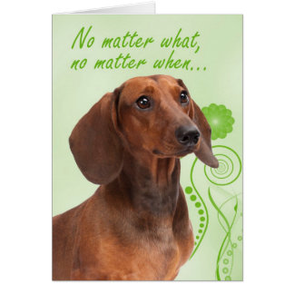 Dachshund Love & Support Card