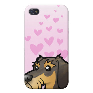 Dachshund Love (wirehair) Case For The iPhone 4