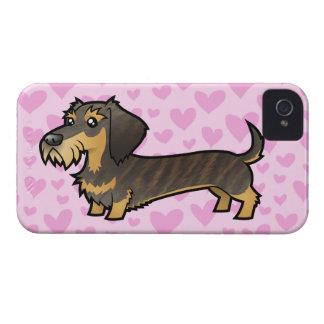 Dachshund Love (wirehair) iPhone 4 Case-Mate Case