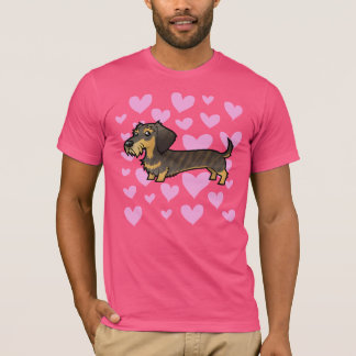 Dachshund Love (wirehair) T-Shirt