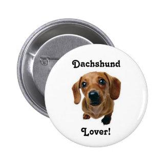 Dachshund Lover! Pinback Button