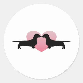 Dachshund Lovers Classic Round Sticker