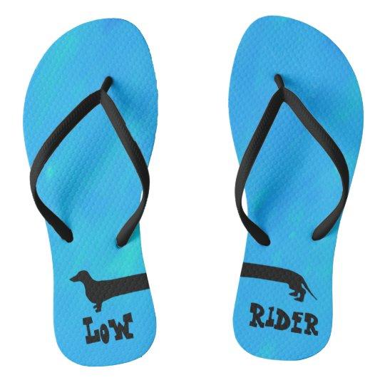 Dachshund Low Rider Flip Flops