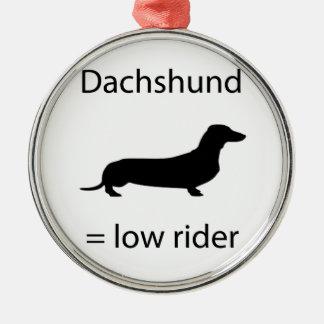 Dachshund = Lowrider Christmas Ornament