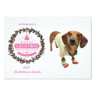 Dachshund - merry christmas - cute dog card