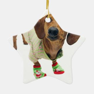 Dachshund - merry christmas - cute dog christmas ornament