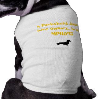 Dachshund Minions Sleeveless Dog Shirt