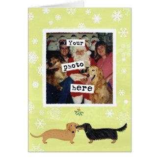 Dachshund Mistletoe Kiss Template Card