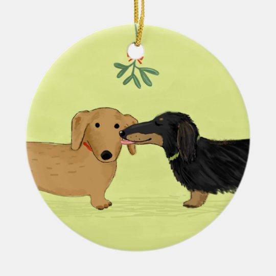 Dachshund Mistletoe Kiss - Wiener Dog Christmas Christmas