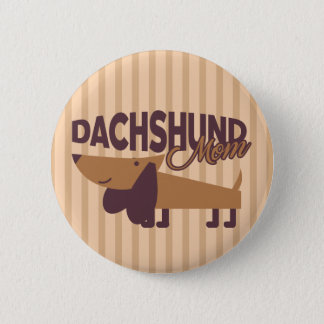 Dachshund Mom, 2¼ Inch Round Button