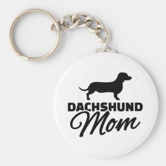 Dachshund Mom Basic Round Button Key Ring