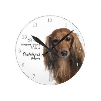 Dachshund Mom Clock