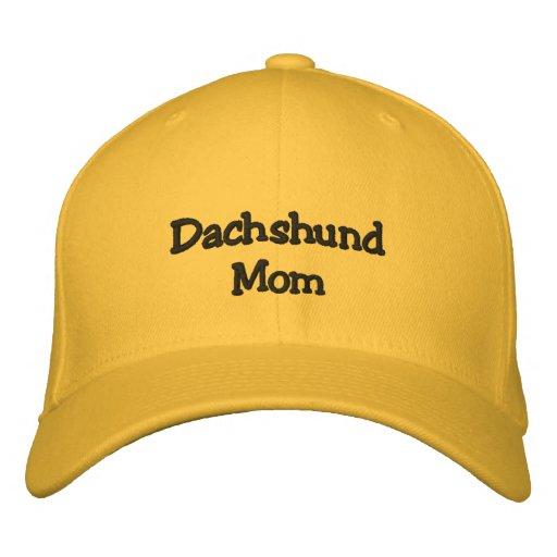 Dachshund Mom Embroidered Baseball Cap