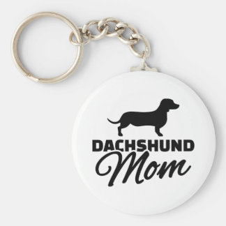 Dachshund Mom Key Ring