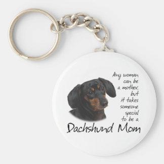 Dachshund Mom Key Ring