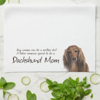 Dachshund Mom Kitchen Towel