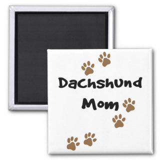 Dachshund Mom Square Magnet