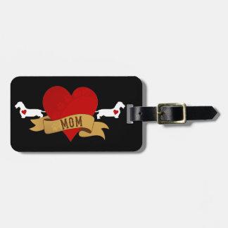 Dachshund Mom [Tattoo style] Luggage Tag