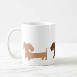 Dachshund Mug Masculine Brown Colors