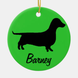 Dachshund Name and Photo Ornament
