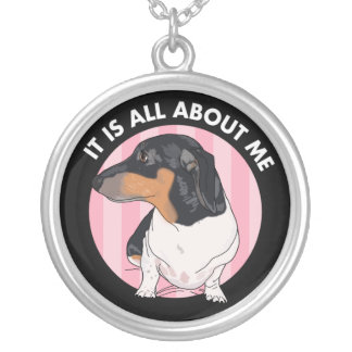 Dachshund Necklace, It Is All About Me Boogie Silver Plated Necklace