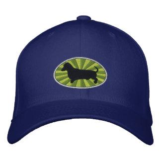 Dachshund Oval Green-Starburst Baseball Cap