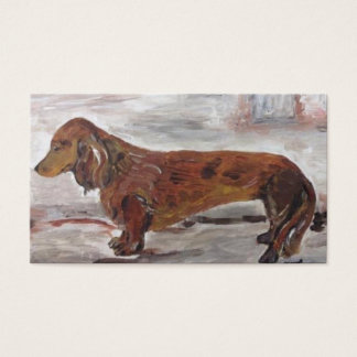 Dachshund Painting Business Cards