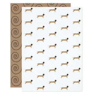Dachshund Paper Card