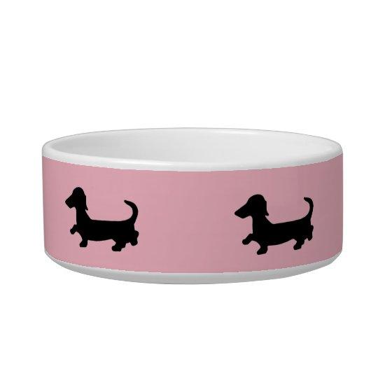 Dachshund Pet Food Bowl Wiener Dog Doxie Dish