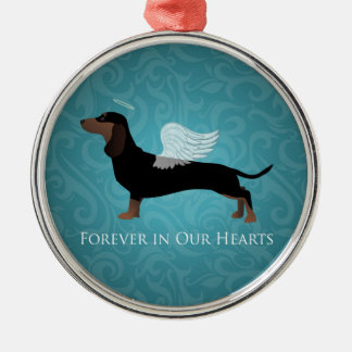 Dachshund - Pet Loss Memorial Design Christmas Ornament