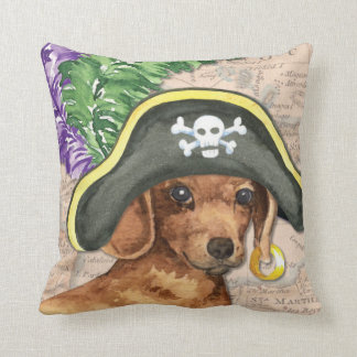 Dachshund Pirate Cushion