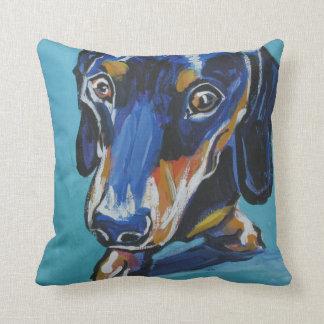 Dachshund Pop Art Pillow- So Cool and Cuddly! Cushion