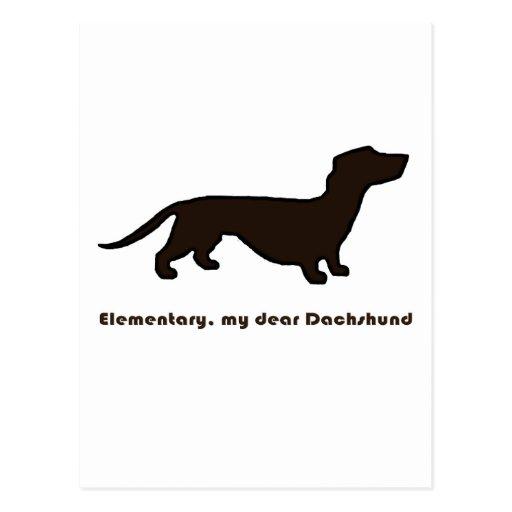 Dachshund Post Card