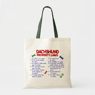 Dachshund Property Laws 2 Tote Bag