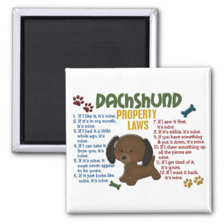 Dachshund Property Laws 4 Square Magnet