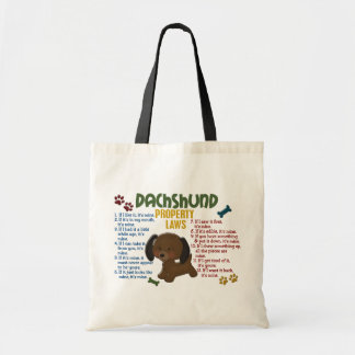 Dachshund Property Laws 4 Tote Bag