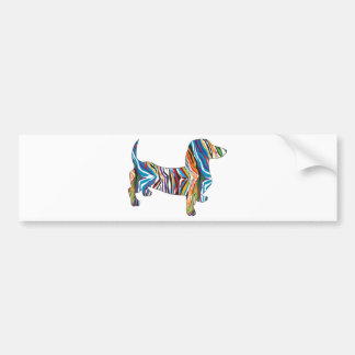 Dachshund - Psychedelic Zbra Doxie Car Bumper Sticker