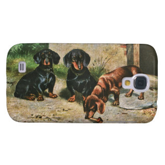 Dachshund Puppies Galaxy S4 Case