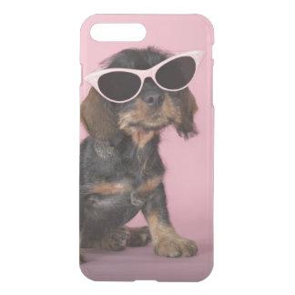 Dachshund puppy wearing sunglasses iPhone 8 plus/7 plus case