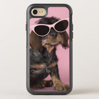 Dachshund puppy wearing sunglasses OtterBox symmetry iPhone 7 case