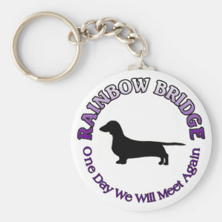 DACHSHUND RAINBOW BRIDGE KEYCHAIN