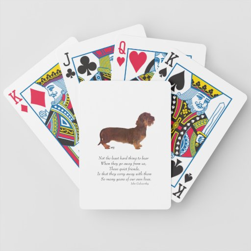 Dachshund Rainbow Bridge Poker Deck